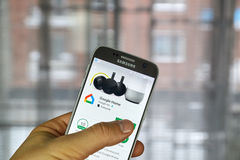 Google Home application Royalty Free Stock Photography