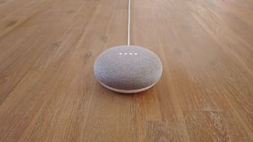 Google Home Mini Smart Home Voice Assistant Controlled Gadget Responding To Command