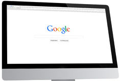 Google Homepage on a Desktop Computer Stock Photography