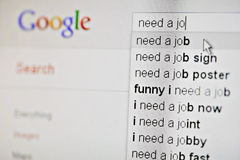 Google, I need a job! Stock Images