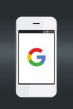 Google icon on a smartphone screen. Royalty Free Stock Photography