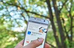 Google il mio affare app Fotografie Stock