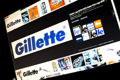 Google image search for Gillette logo photos on PC screen Stock Photos