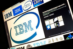 Google image search for IBM logo photos on PC screen Stock Image