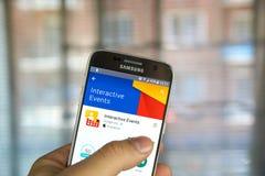 Google Interaktywni wydarzenia App Obraz Stock