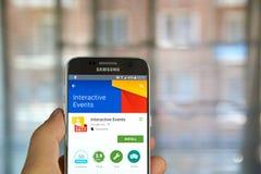 Google Interaktywni wydarzenia App Obrazy Stock