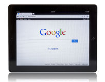 Google on iPad 3 Stock Images