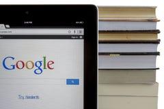 Google on iPad 3 Stock Photo