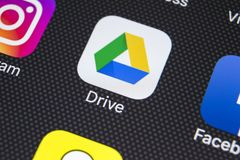 Google Jedzie podaniową ikonę na Jabłczany X iPhone parawanowym zakończeniu Google przejażdżki ikona Google przejażdżki kartoteki Zdjęcia Stock