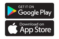 Google joga ícones da loja do app ilustração royalty free