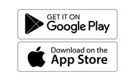 Google jouent des icônes de magasin d'APP illustration de vecteur