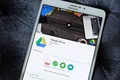 Google kör app Arkivbilder