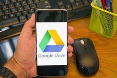 Google kör för Android apparater royaltyfri fotografi