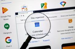 Google Kalender-Logo lizenzfreies stockfoto