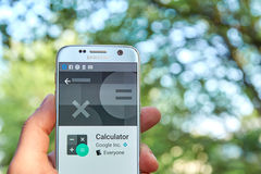 Google kalkulator app Obraz Stock