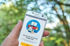 Google Lany app Fotografia Stock