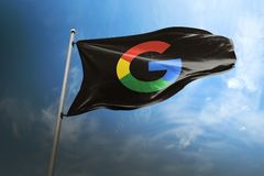 Google photorealistic flag editorial royalty free stock images