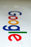 Google logo on a piece of white paper -portrait- Royalty Free Stock Photo