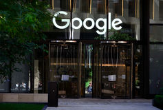 Google Londres Photographie stock
