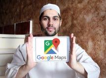 Google Maps商标 免版税库存图片