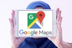Google Maps商标 免版税库存照片