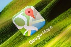 Google Maps应用 免版税库存图片