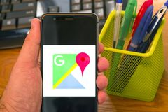 Google Maps immagini stock