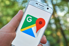 Google Maps app Royalty Free Stock Images