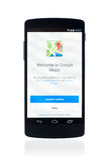 Google Maps applikation på Google samband 5 Royaltyfri Fotografi