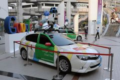 Google Maps Car in Bangkok. A Google Maps car on view in central Bangkok as the internet giant announces the Thai capital has been added to its Street View stock image
