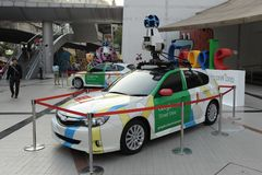 Google Maps Car in Bangkok Royalty Free Stock Image