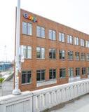 Google Maps-Hoofdkwartier in Seattle - SEATTLE/WASHINGTON - APRIL 11, 2017 Stock Foto's