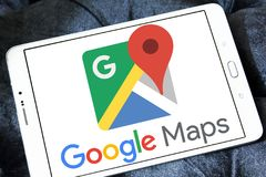 Google Maps logo arkivbilder