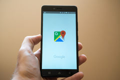 Google Maps Stock Photography