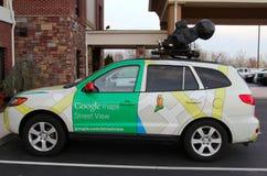 Google Maps-Straßen-Ansicht-Fahrzeug stockbild
