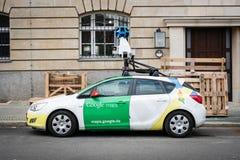 Google- Maps/Google-Straßenansichtauto mit Kamera 360° stockbilder