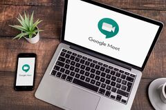 Free Google Meet App Stock Images - 181276824