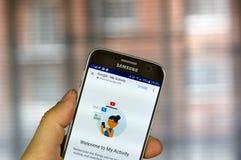 Google meine Tätigkeits-APP Lizenzfreie Stockfotos