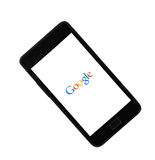 Google. Melbourne,Australia- July,16,2015: Open Google page on the phone. Google is the popular search engine Stock Photo
