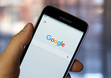 Google mobile app. Stock Photo