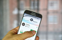 Google Myglass app Stock Photography