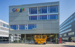 Google office in Zurich. Zurich, Switzerland - 24 June, 2015: Google office building. Google is a multinational technology company specializing in Internet Royalty Free Stock Photo