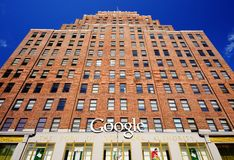 Google Offices. April 16, 2013 in New York, NY. The massive 3 million sq ft former Port Authority building was purchased by Google for 1.9 billion dollars in Stock Photography