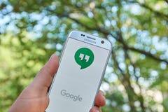 Google-Ontmoetingsplaatsen app stock fotografie