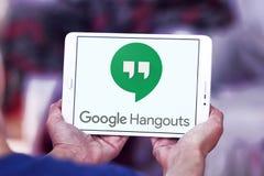 Google-Ontmoetingsplaatsenembleem stock afbeeldingen