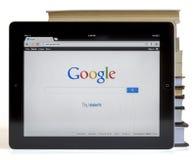 Google op iPad 3 Royalty-vrije Stock Afbeelding