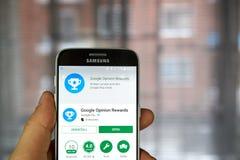 Google Opinion Rewards app Royalty Free Stock Photos