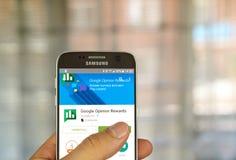 Google Opinion Rewards application Stock Photography