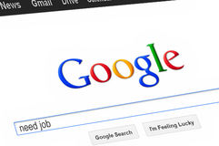 Google page Stock Photography