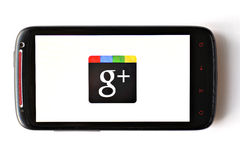 Google+ phone Stock Photo